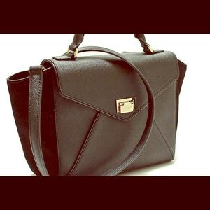 KATE SPADE Wesley place black leather / suede
